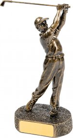 Golf Resin Trophy Male 25cm