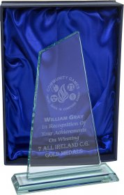 Jade Glass Slope Plaque - 3 Sizes From €20.10